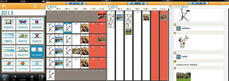Varias pantallas de la app Día a día