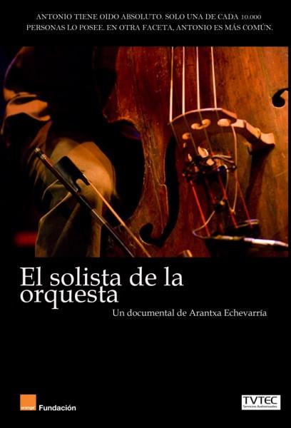 Cartel del cortometraje El solista de la orquesta