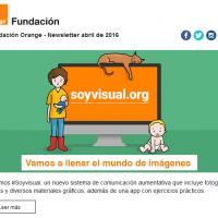 portada newsletter de Fundación Orange de abril 2016