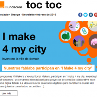 portada newsletter de Fundación Orange de febrero 2016