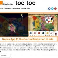 portada newsletter de Fundación Orange de julio 2015