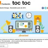 Portada newsletter de Fundación Orange de junio 2015