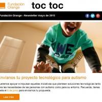 portada newsletter de Fundación Orange de mayo 2015
