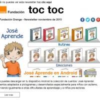 portada newsletter de Fundación Orange de noviembre 2015