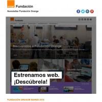 portada newsletter de Fundación Orange de marzo 2016 nueva web