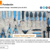 Portada newsletter Fundación Orange junio de 2016