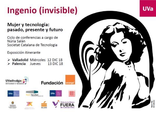 Cartel exposición Ingenio Invisible con logos